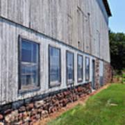 Old Barn Windows Poster