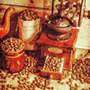 Old Bean Mill Decor. Kitchen Art Poster