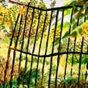 Old  Bent Gate Poster