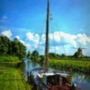 Old Boat In Holland Poster