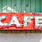 Old Cafe Sign Poster
