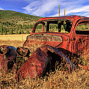 Old Car At Susanville Ranch Poster