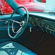 Old Car Interior Poster