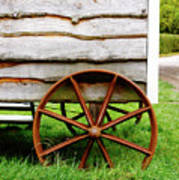 Old Cart Wheel Poster