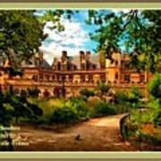Old Castle - France H A With Decorative Ornate Printed  Frame  Poster