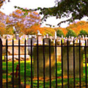 Old Cemetary In Newport Rhode Island Poster