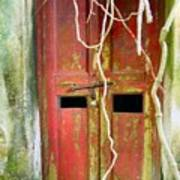 Old Chinese Village Door Eleven Poster