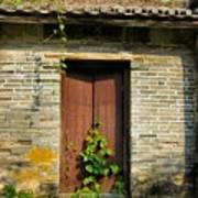 Old Chinese Village Door Series Sixteen Poster