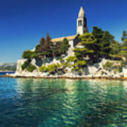 Old Church On Croatian Island Poster