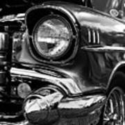Old Classic Car In Black And White Poster