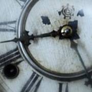 Old Clock Face Poster