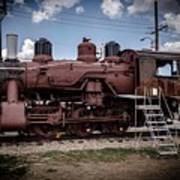 Old Clovis Train Poster
