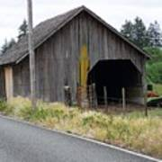 Old Cow Barn  Washington State Poster