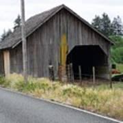 Old Cow Barn  Washington State Poster