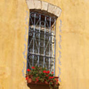 Old Decorated Window In Safed Poster