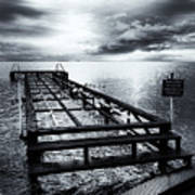 Old Dock Bw Poster