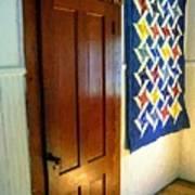 Old Door - New Quilt Poster