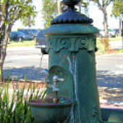 Old Drinking Fountain Poster