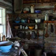 Old Farm Kitchen Poster