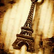 Old Fashion Eiffel Tower Souvenir Poster