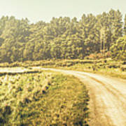 Old-fashioned Country Lane Poster