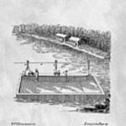 Old Ferryboat Patent Poster