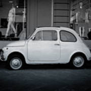 Old Fiat On The Streets Of Florence Poster