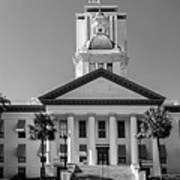 Old Florida Capitol In Black And White  Poster