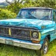 Old Ford Pick Up Truck Pencil Poster