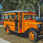 Old Ford School Bus No. 32 Poster