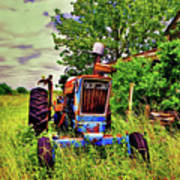 Old Ford Tractor Poster