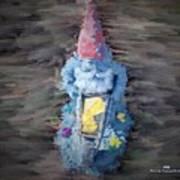 Old Garden Gnome Poster