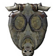 Old Gas Mask Poster