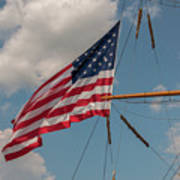 Old Glory Flying Over Eagle Poster