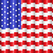 Pixilated Old Glory Poster