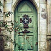 Old Gothic Door Poster