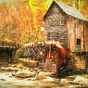 Old Grist Mill Poster