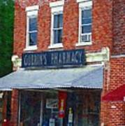 Old Guerins Pharmacy Poster
