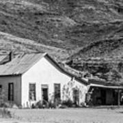 Old House And Foothills Poster