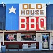 Old House Bbq Poster