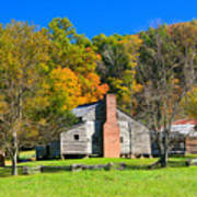 Old House In Cades Cove Tn Poster