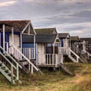 Beach Huts At Old Hunstanton Poster