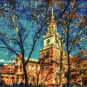 Old Independence Hall Poster