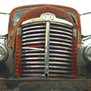 Old International Gravel Truck Poster by Randy Harris