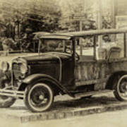 Old Jalopy In Wiscasset Poster