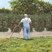 Old Man In Garden Poster