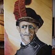 Old Man In Military Costume Poster
