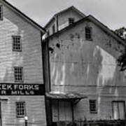 Old Mill Buildings Poster