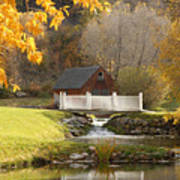 Old Mill in Autumn Poster