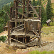 Old Mining Equipment Poster